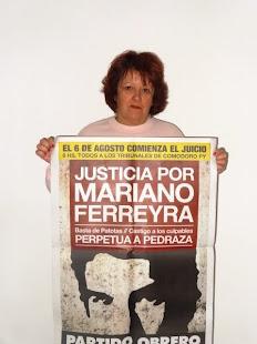 RAQUEL CAPARRÓS, DOCENTE, TAMBIÉN QUIERE JUSTICIA POR MARIANO