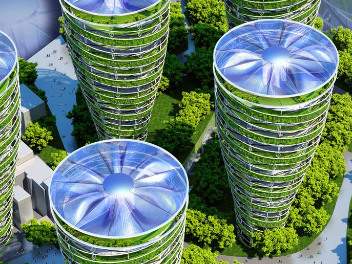 شكل من أشكال الأبراج لباريس المستقبلية
