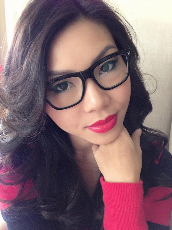 nerd glasses Asian girl