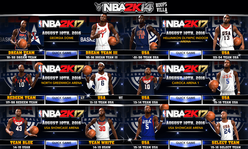 NBA 2k14 Roster update - December 29, 2017 - Team USA - HoopsVilla