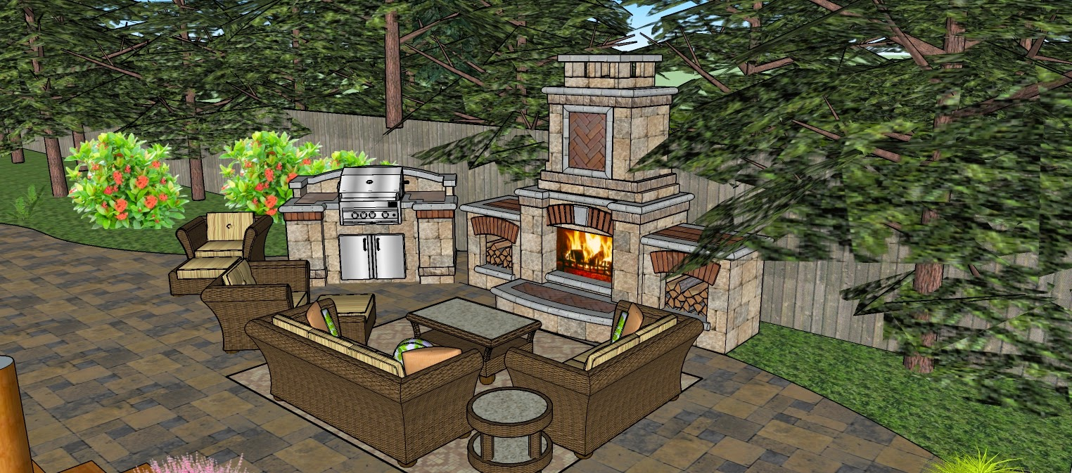 Superbe Outdoor Kitchen   Sketchup