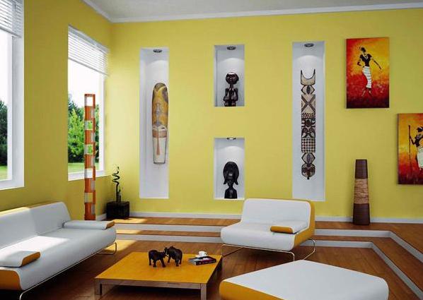 warna cat ruang tamu kuning