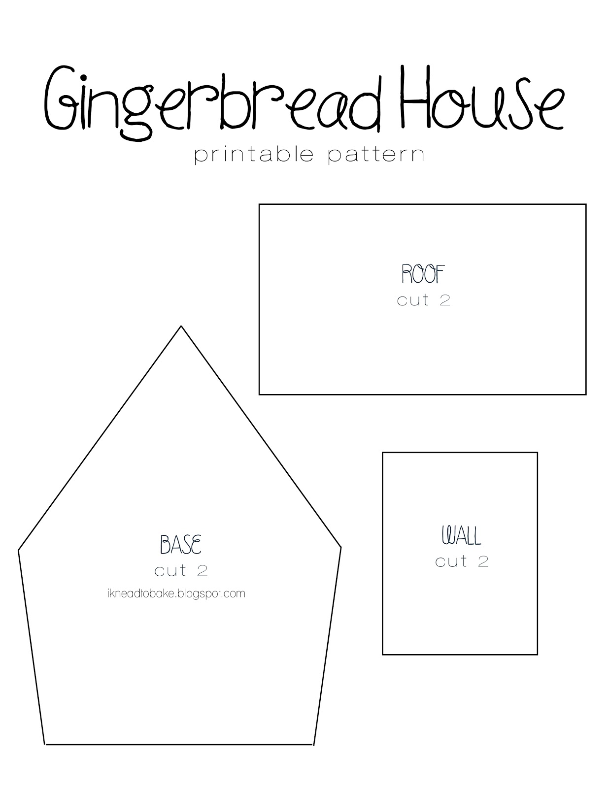 I knead to bake gingerbread recipe printable house template House design templates