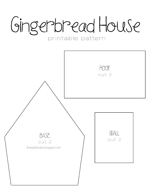 Accomplished image inside gingerbread house printable template