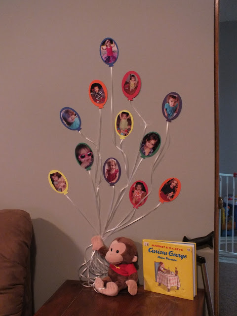 Curious George balloon decoration