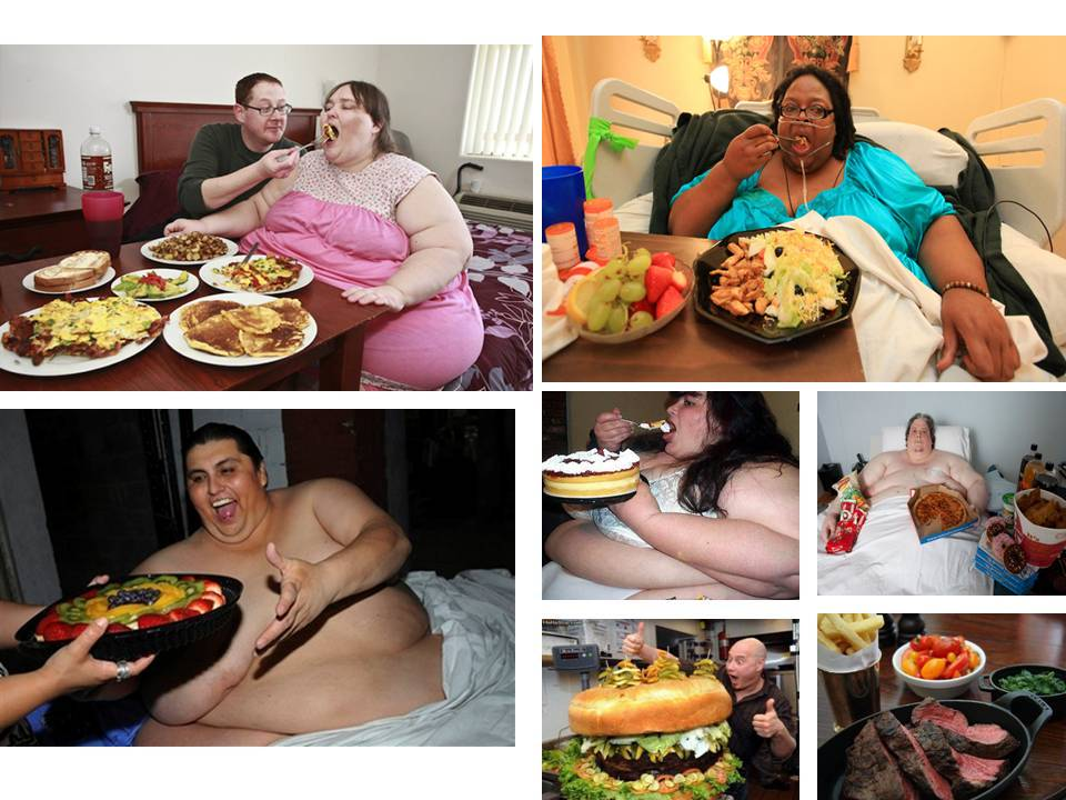 World's Heaviest persons eating big meals