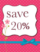 Save 20% on Stampin' Up! Products