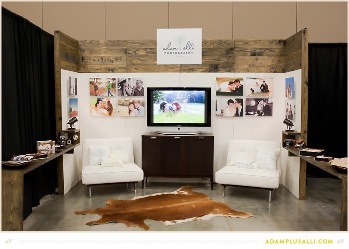 D p design build trade show booth for adam alli photography for I furniture home fair