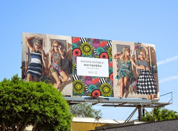Banana Republic Marimekko Collection Summer 2014 billboard