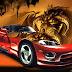 Wallpaper de Carro Com Dragão ao Fundo