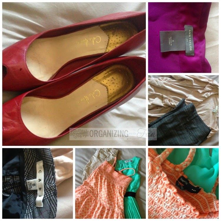 Clothing and shoes I sent in :: OrganizingMadeFun.com