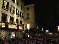 Pregó de Festes de Sant Narcís 2013. Plaça del Vi. Girona.
