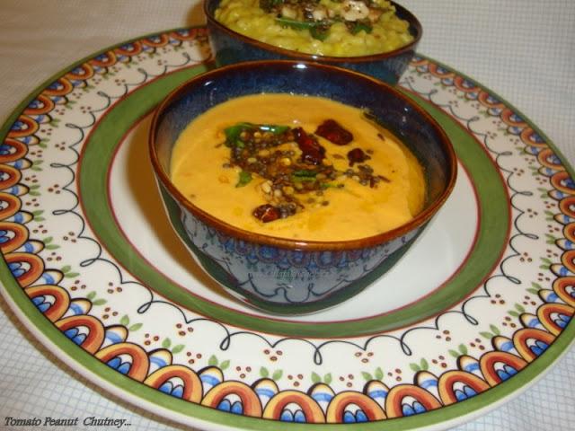 Images forTomato Peanut Pachadi Recipe / Tamata Palli Pachadi Recipe / Tomato Peanut Chutney Recipe  Tomato & Peanut Chutney Recipe