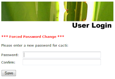 user login - new password