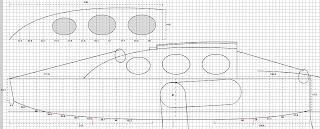 plan d'une barge à voile