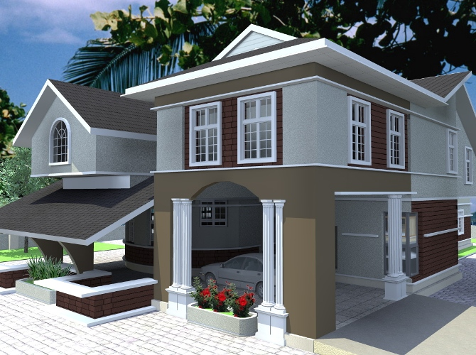 Residential homes and public designs 5 bedroom duplex for 5 bedroom duplex design