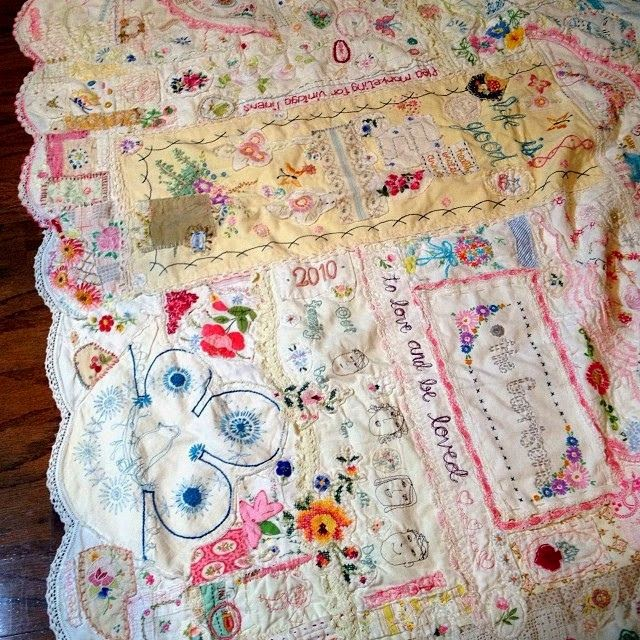 Old Fashioned Embroidery Quilts