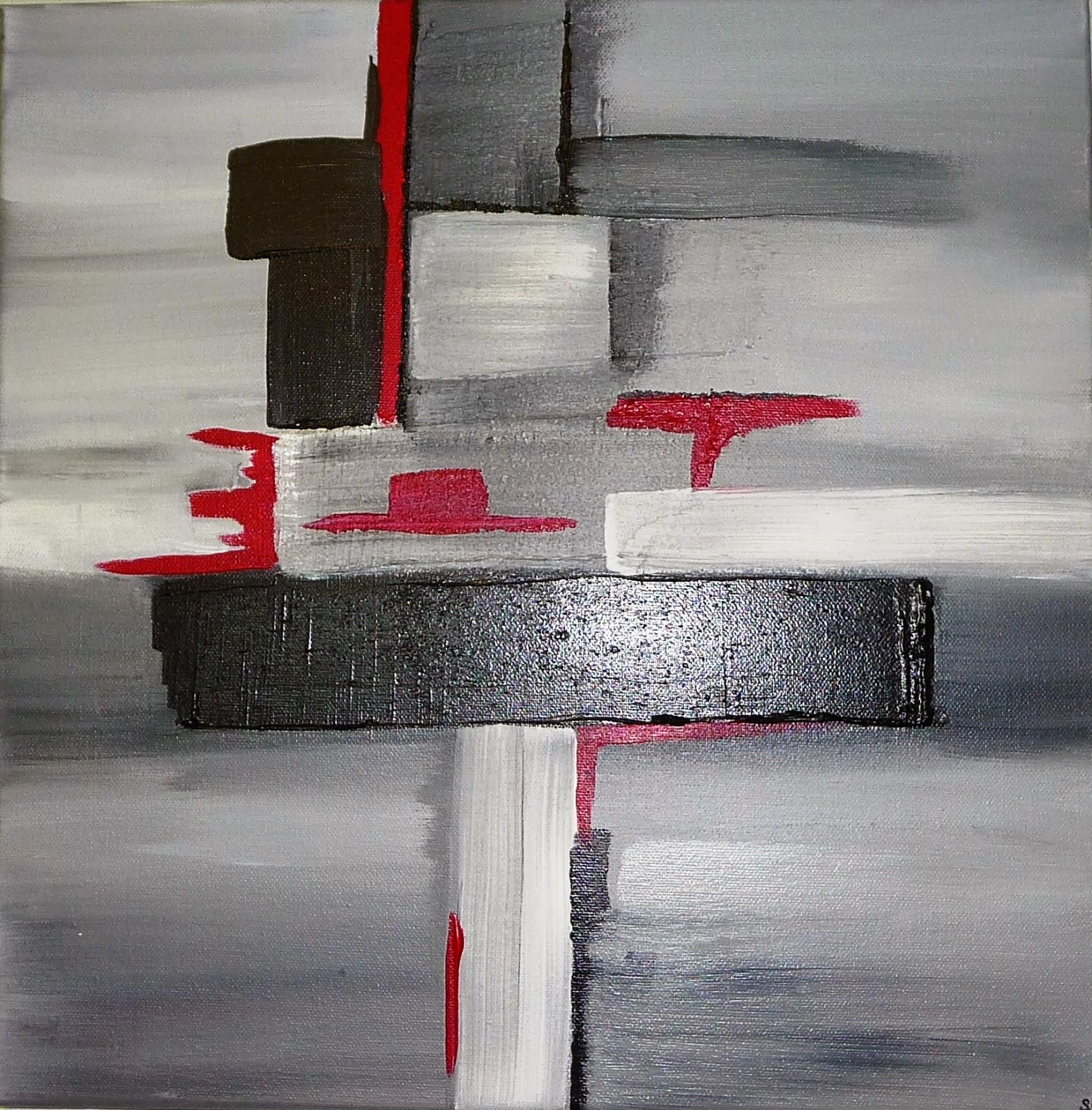 Les tableaux de sido devient sido b cr ations les for Peinture gris rouge