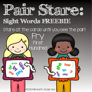 http://www.teacherspayteachers.com/Product/Sight-Word-Game-FREEBIE-Pair-Stare-Fry-First-Hundred-1000055