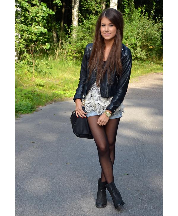 Девушка модно одетая