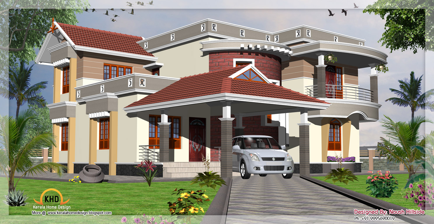 Home Elevation - 2775 Sq. Ft | Indian Home Decor