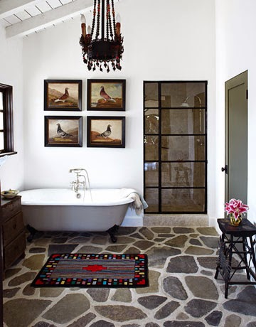 modern traditional bathroom; mixed style bathroom
