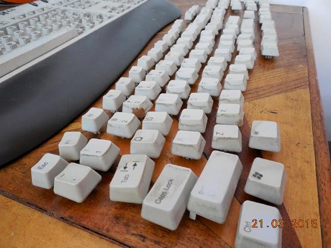 curatenie generala la tastatura