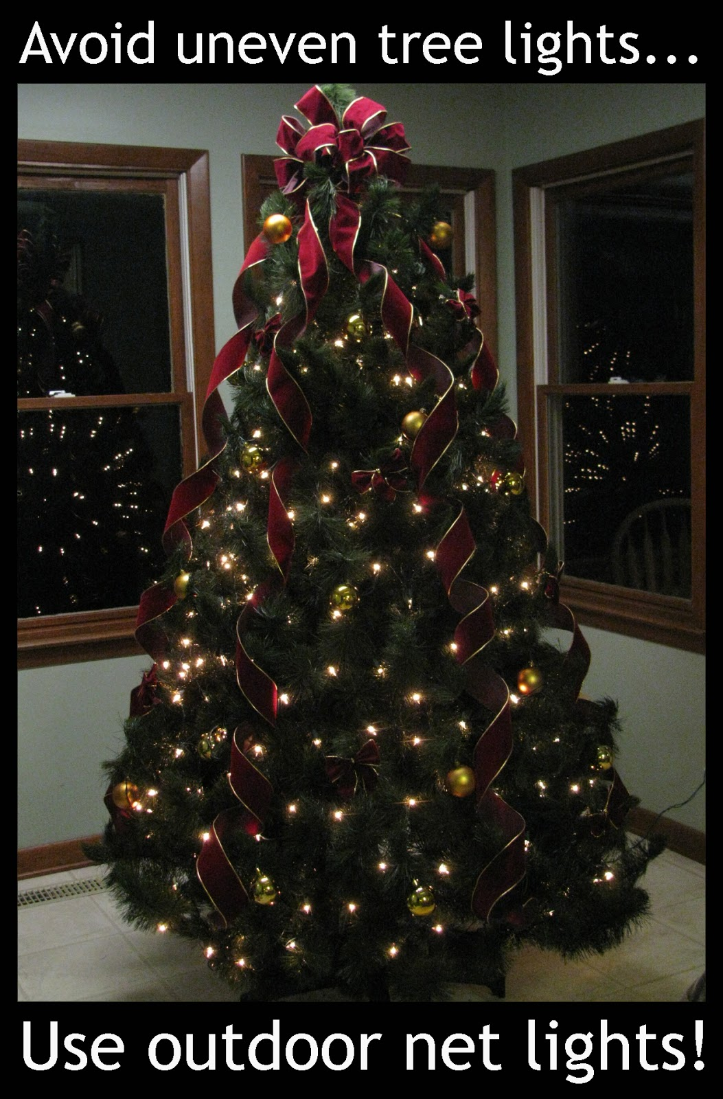 Do You String Christmas Tree Lights Top Bottom : A Practical Pair: Christmas Tree Net Lighting
