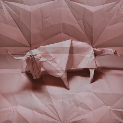 animales origami 3D toro
