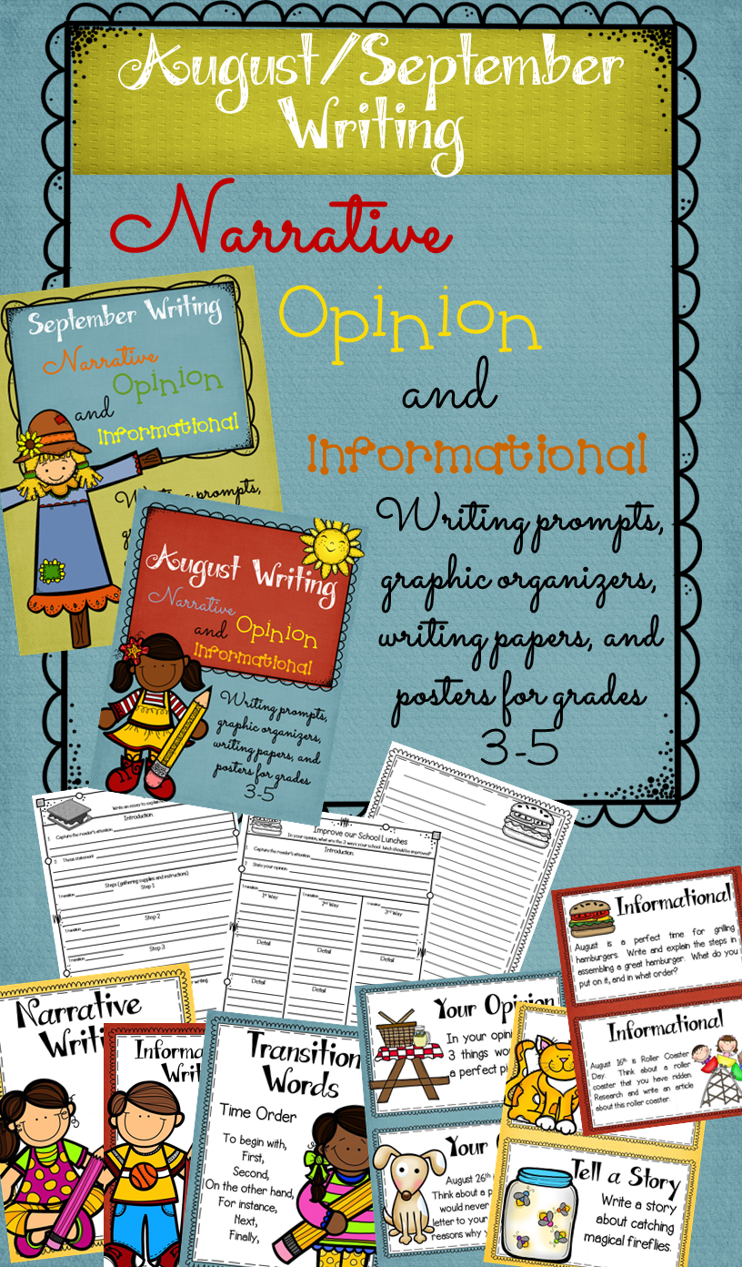 http://www.teacherspayteachers.com/Product/Month-by-Month-Writing-Prompts-Graphic-Organizers-Papers-and-Posters-1346526
