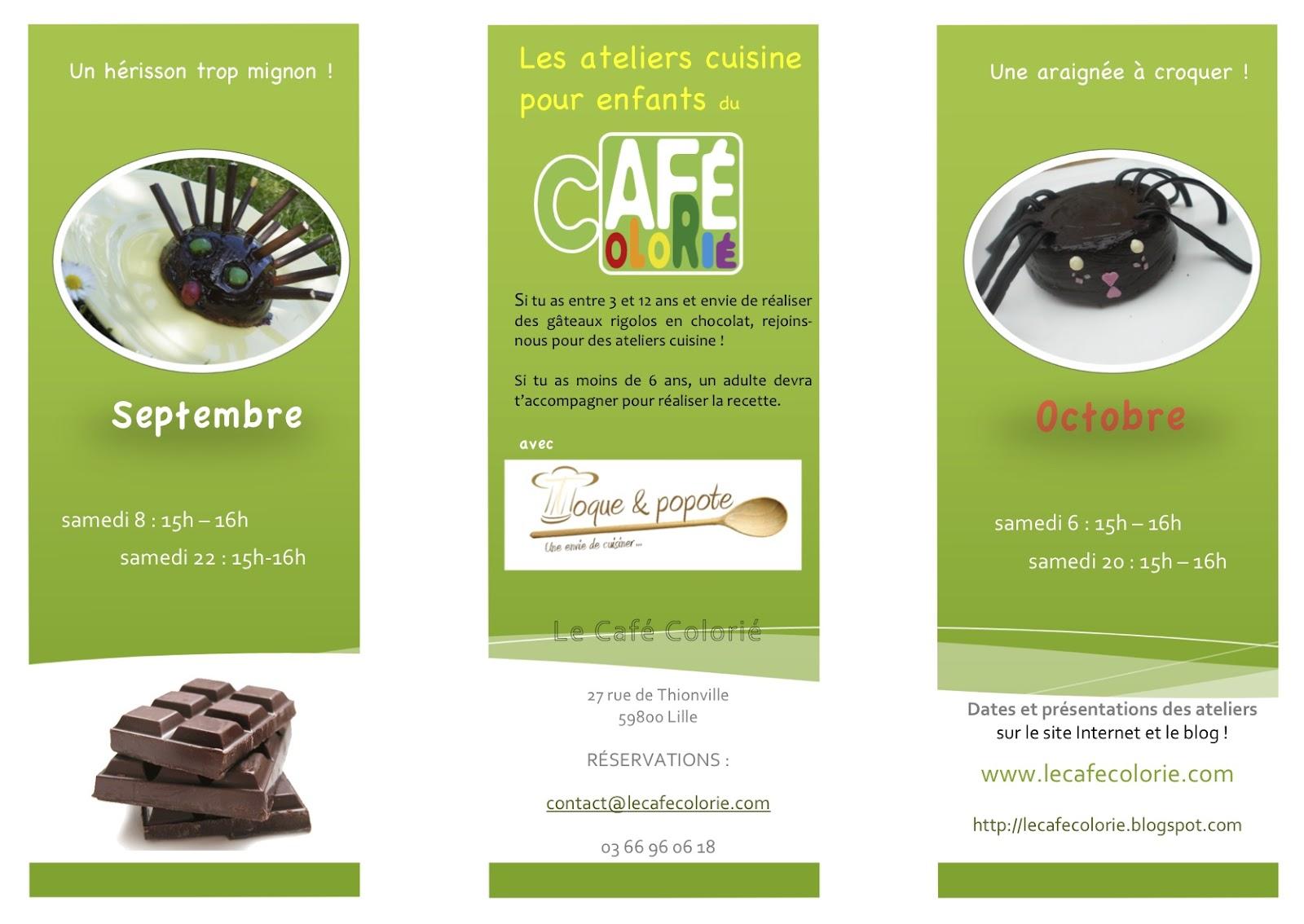 Le caf colori atelier cuisine en septembre for Ateliers cuisine