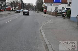 Radwegende Hummelsbütteler Hauptstraße