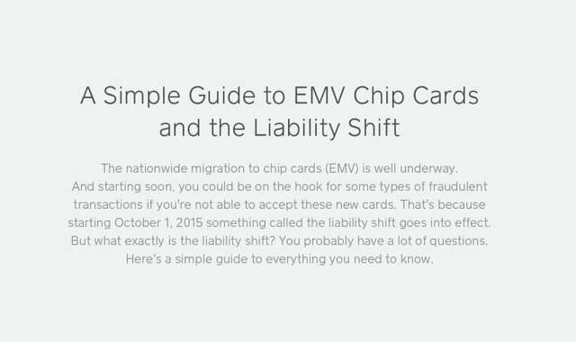 A Simple Guide to EMV Chip Cards and the Liability Shift