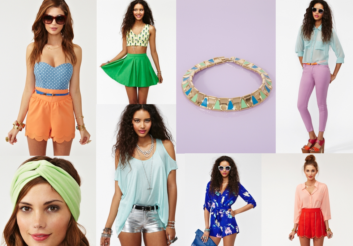 Spring Summer colors Nastygal