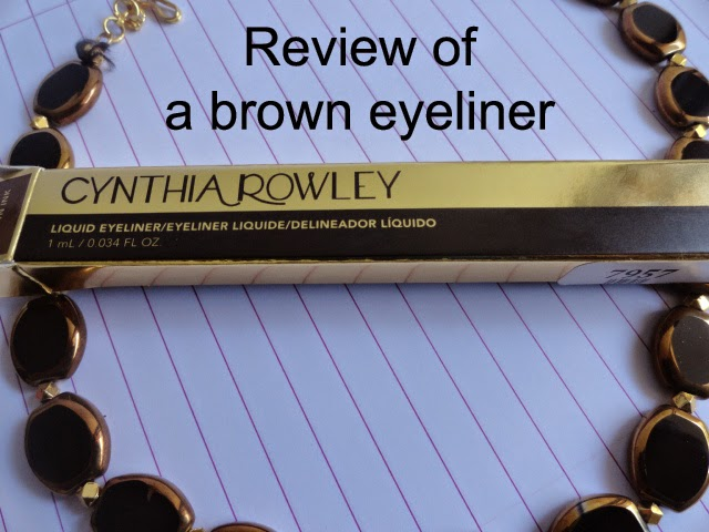 REVIEW: Cynthia Rowley Liquid Eyeliner in Brown Ink. image