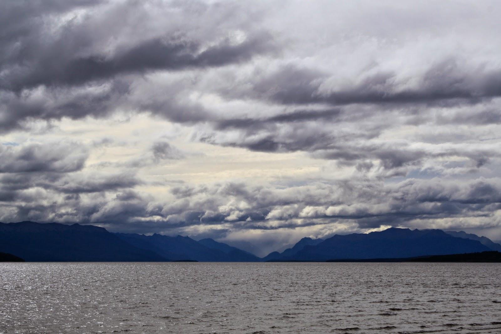 Lake Te Anau: with clouds this time.