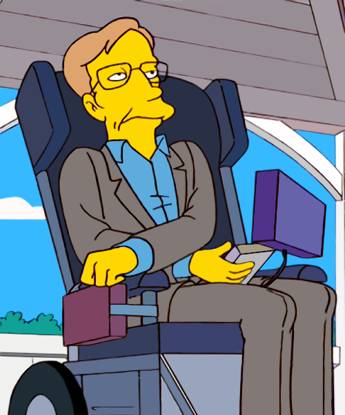La aventura de la ciencia las apuestas de stephen hawking for Sedia a rotelle cartoon