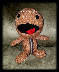Sackboy says, 'Knit a Little Today...'