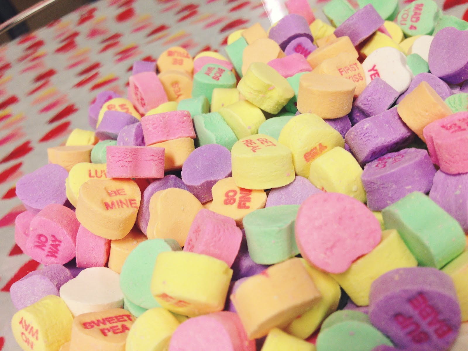 Conversation Hearts Wallpaper | www.imgkid.com - The Image ...