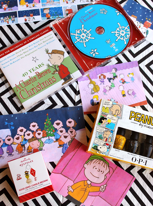 Celebrate 40 Years of A Charlie Brown Christmas with all new recordings of the timeless classic, OPI nail art gift sets, Hallmark 2014 ornaments and our Good Grief Smoothie Recipe. #Sp