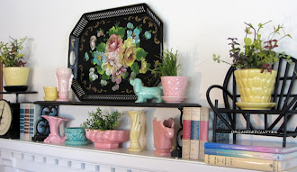 Tole Tray Inspired Mantel