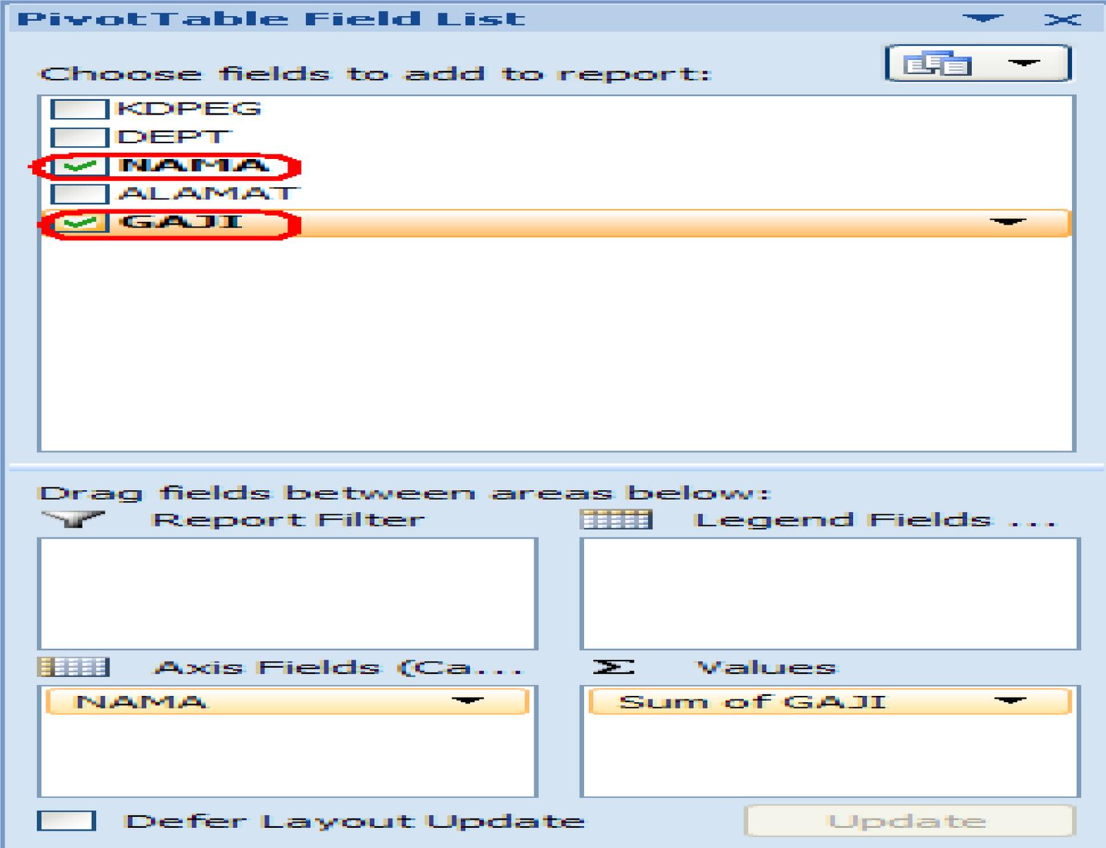 Contoh Makalah: Database di Microsoft Excell 2007