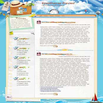 Time for Fun blogger template. converted WordPress to Blogger template
