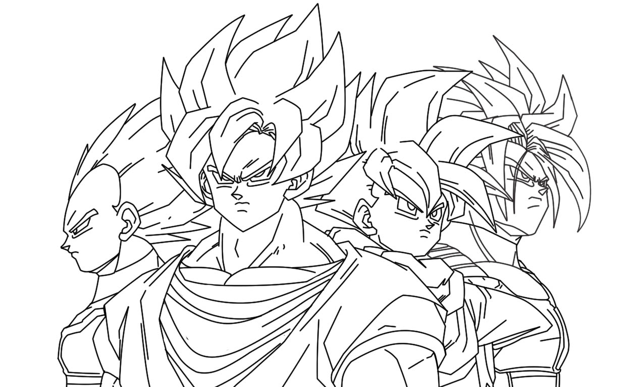 DIBUJOS DE DRAGON BALL Z DIBUJOS DE DRAGON BALL PARA COLOREAR O