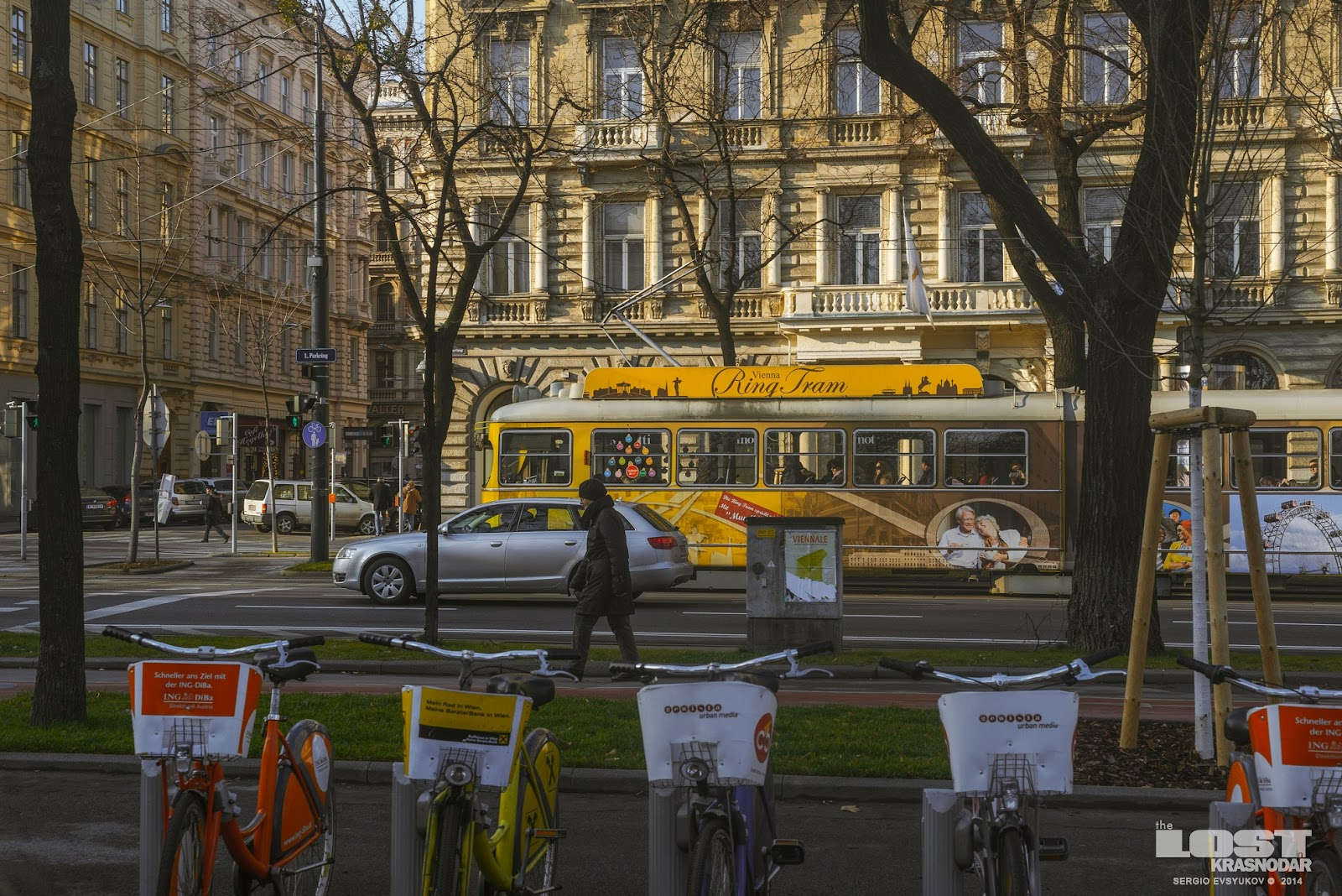 Tram on the Ringstrasse in Vienna