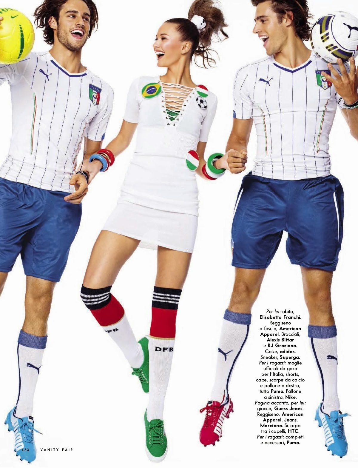Kristina Romanova And Jordan And Zac Stenmark By Stewart Shining For Vanity Fair Magazine, Italia, June 2014