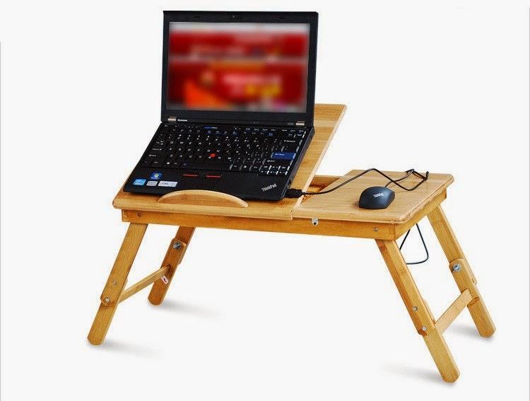 Tavolo da letto per notebook pc tablet in legno grezzo - Tavolino da letto per pc ...