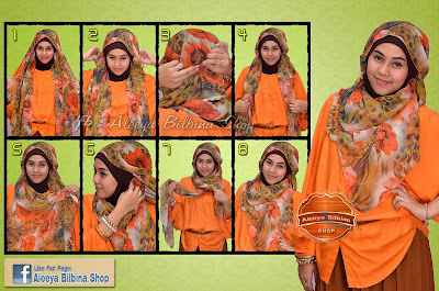 Cara Memakai Chifon Orange Style Untuk Ibu Hami