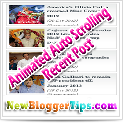 Add Animated Scrolling Recent Post Widget In Blogger