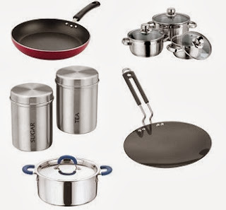 Get Flat 32% Discount on Induction & Non-Induction Vinod Steel Cookwares at Jabong